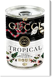 The Oliver Gal Artist Co. Fashion and Glam Wall Art Canvas Prints 'Italian Luxe Soup Can Home Décor, 10