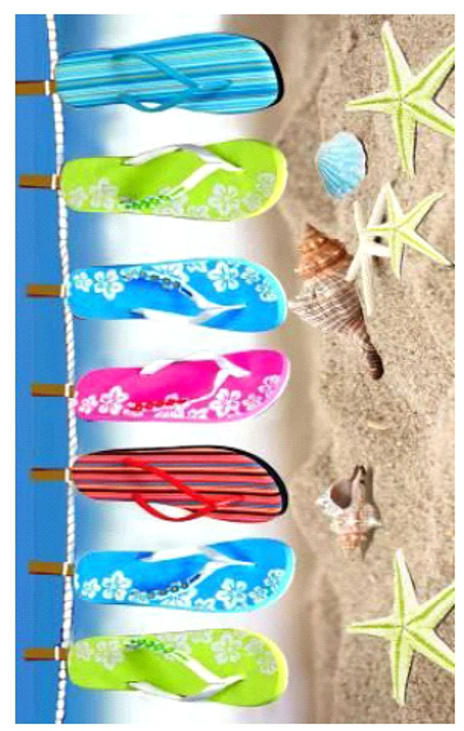 100% Pure Cotton Luxury Slipper Line Beach Towel - Modern Design, 75x150cms 5029497950914
