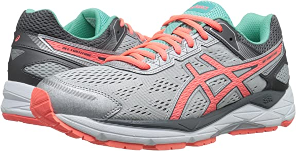 ASICS Womens Gel-fortitude 7 Running Shoe, Silver/Fiery Coral/Aqua Mint, 12 D US: Amazon.es: Zapatos y complementos