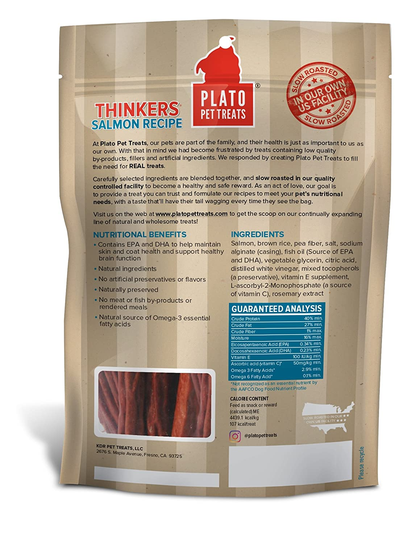 Plato Dog Treats — Pacific Salmon — Pet Treats, All-Natural, Non-Gmo, No Artificial Flavors, Or Preservatives, Made In The Usa