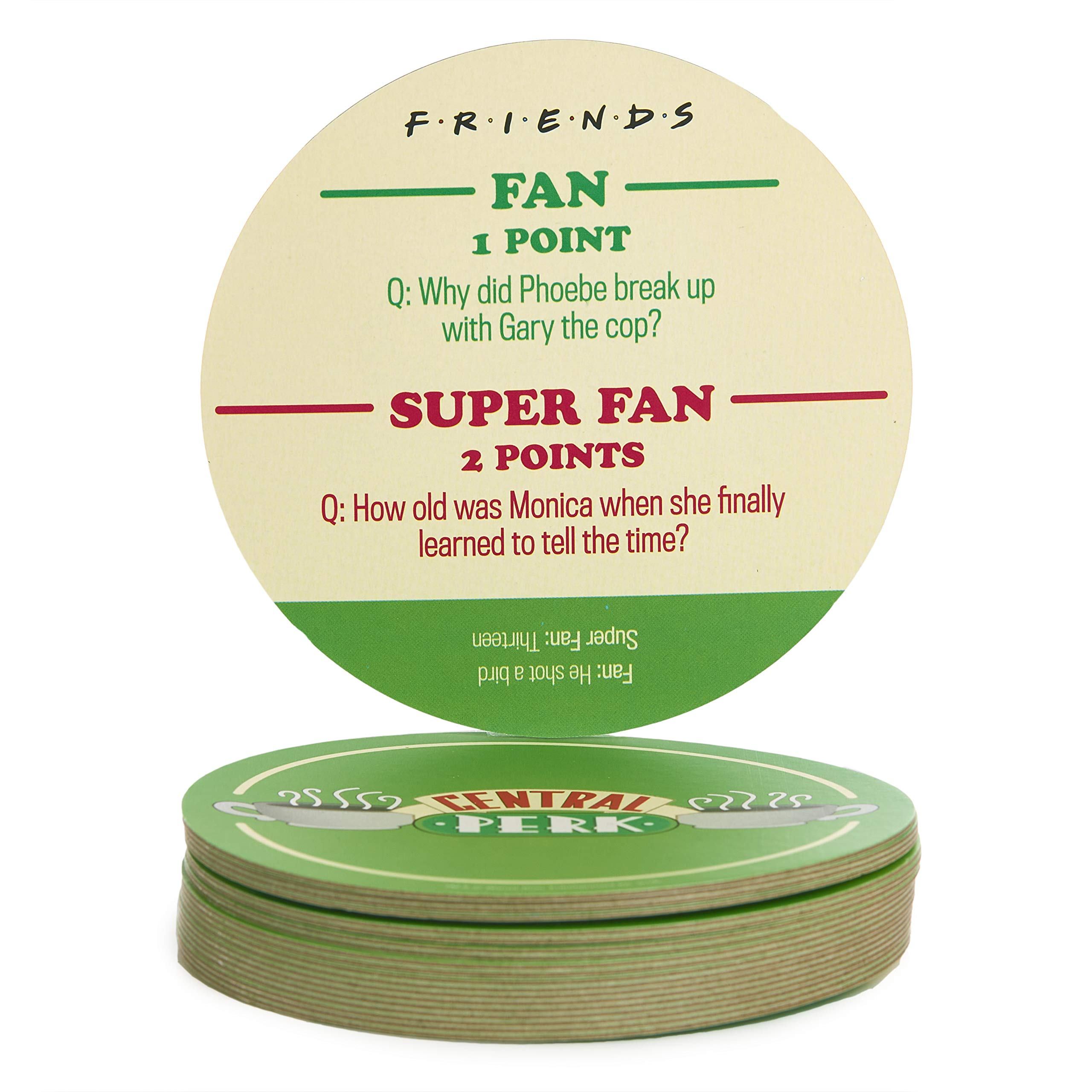 Paladone PP5713FR Friends TV Show Trivia, 20 Central Perk Drink Coasters with 40 Questions, Cardboard