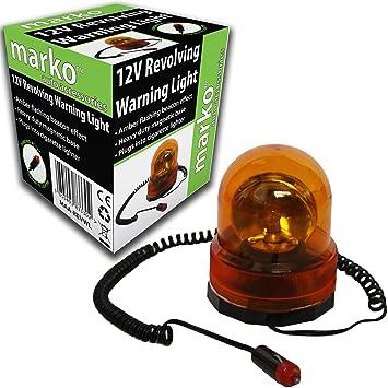12V REVOLVING Amber Light Beacon Warning Rotating Recovery Breakdown Magnetic