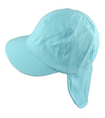 Pesci Boys Summer Legionnaire Sun Hat Roll Up Neck Flap Light Blue (2-4 355d037fd2a1