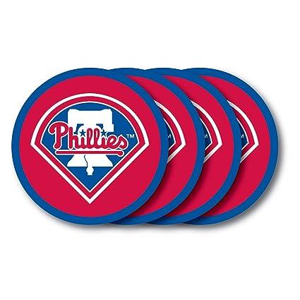 Amazon.com: MLB Philadelphia Phillies Posavasos (4 unidades ...