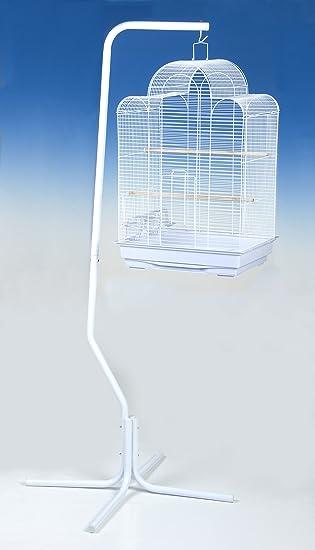 Blanco Universal Soporte de Jaula de pájaros: Amazon.es: Productos ...