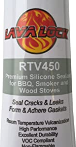 LavaLock® Food Safe BBQ Grade Adhesive Grill Smoker High Temp RTV Silicon - Clear 3 Ounce