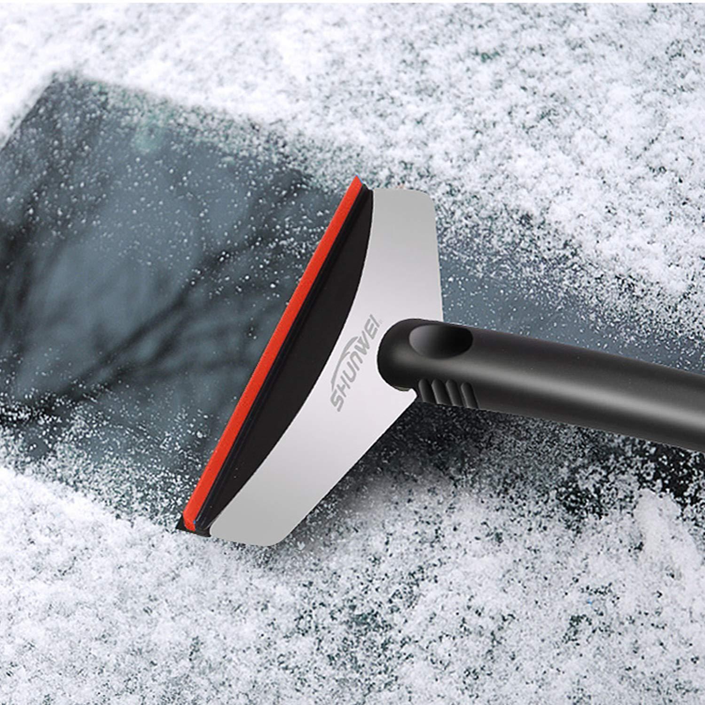 Nasharia Eiskratzer Top Qualit/ät Messigschaber Auto Eisschaber Aus Robustem Edelstahl und ABS-Kunststoff
