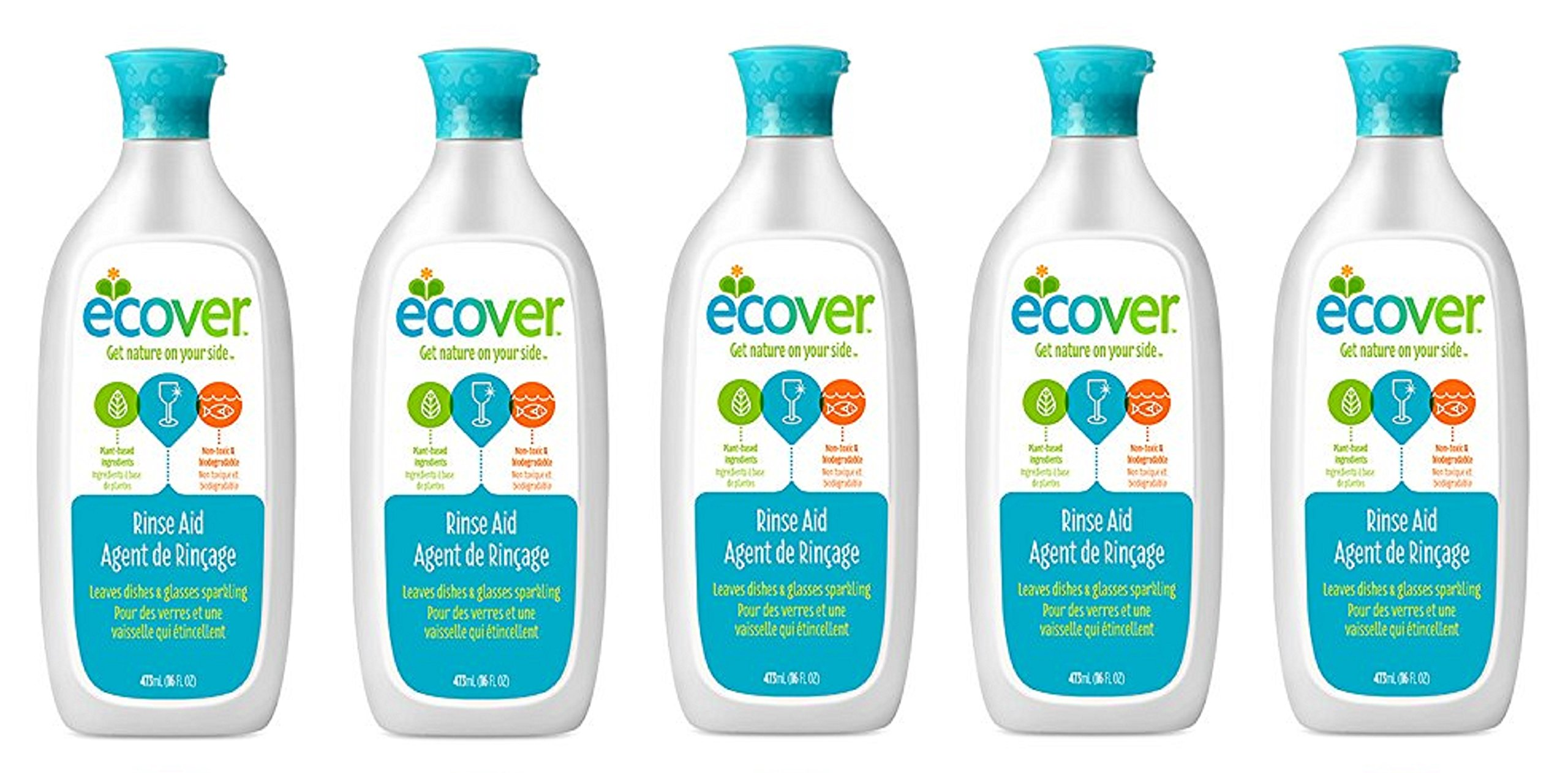 Ecover Naturally Derived Rinse wWjubb Aid for Dishwashers, 16 Ounce (Pack of 5)