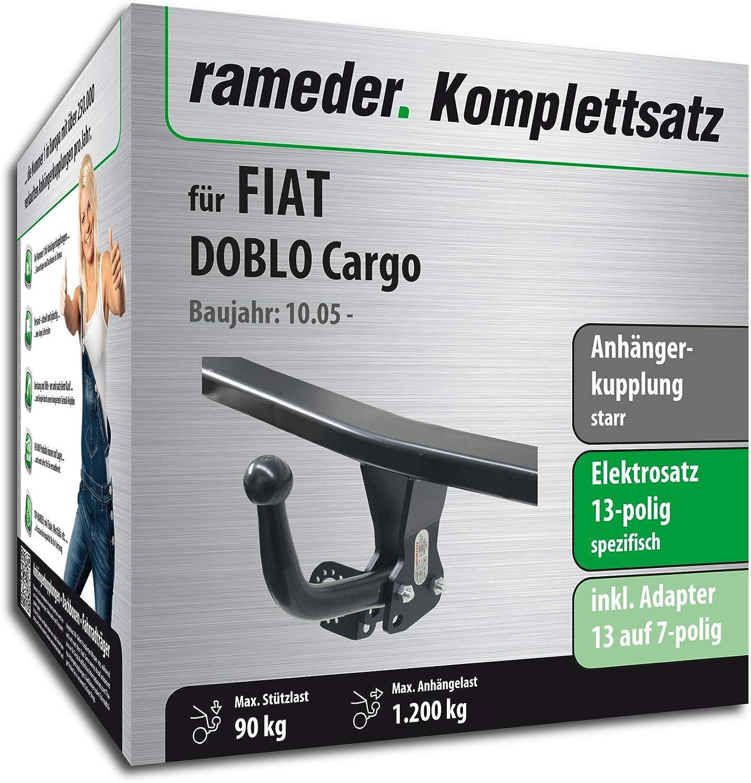 13pol Elektrik f/ür FIAT DOBLO Cargo Anh/ängerkupplung starr Rameder Komplettsatz 113512-04743-4