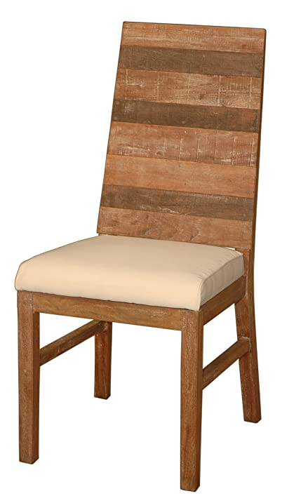 Awesome Jeffan International Sedona Dining Chair, Recycled Teak