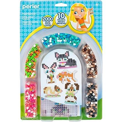 Amazon com: Perler Beads 3D Pets Pattern and Fuse Bead Kit