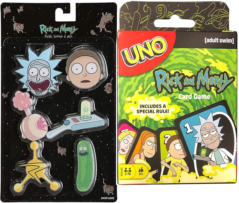 Rick and Morty Uno - Juego de cartas con diseño de Rick & Morty ...