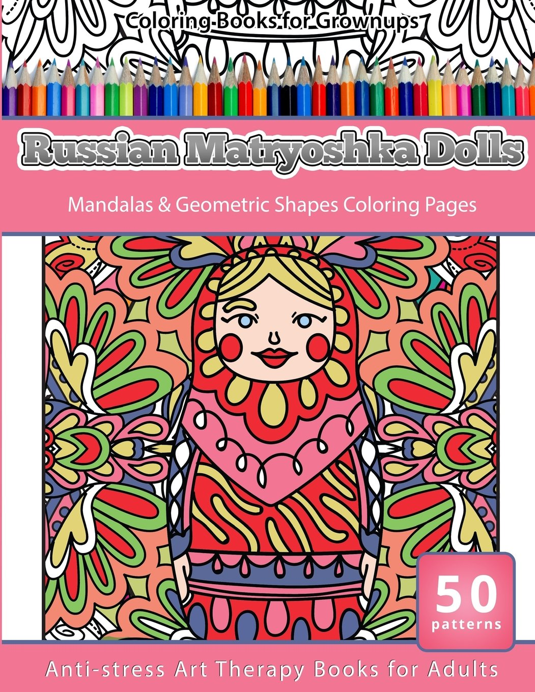 Amazon.com: Coloring Books for Grownups Russian Matryoshka Dolls ...