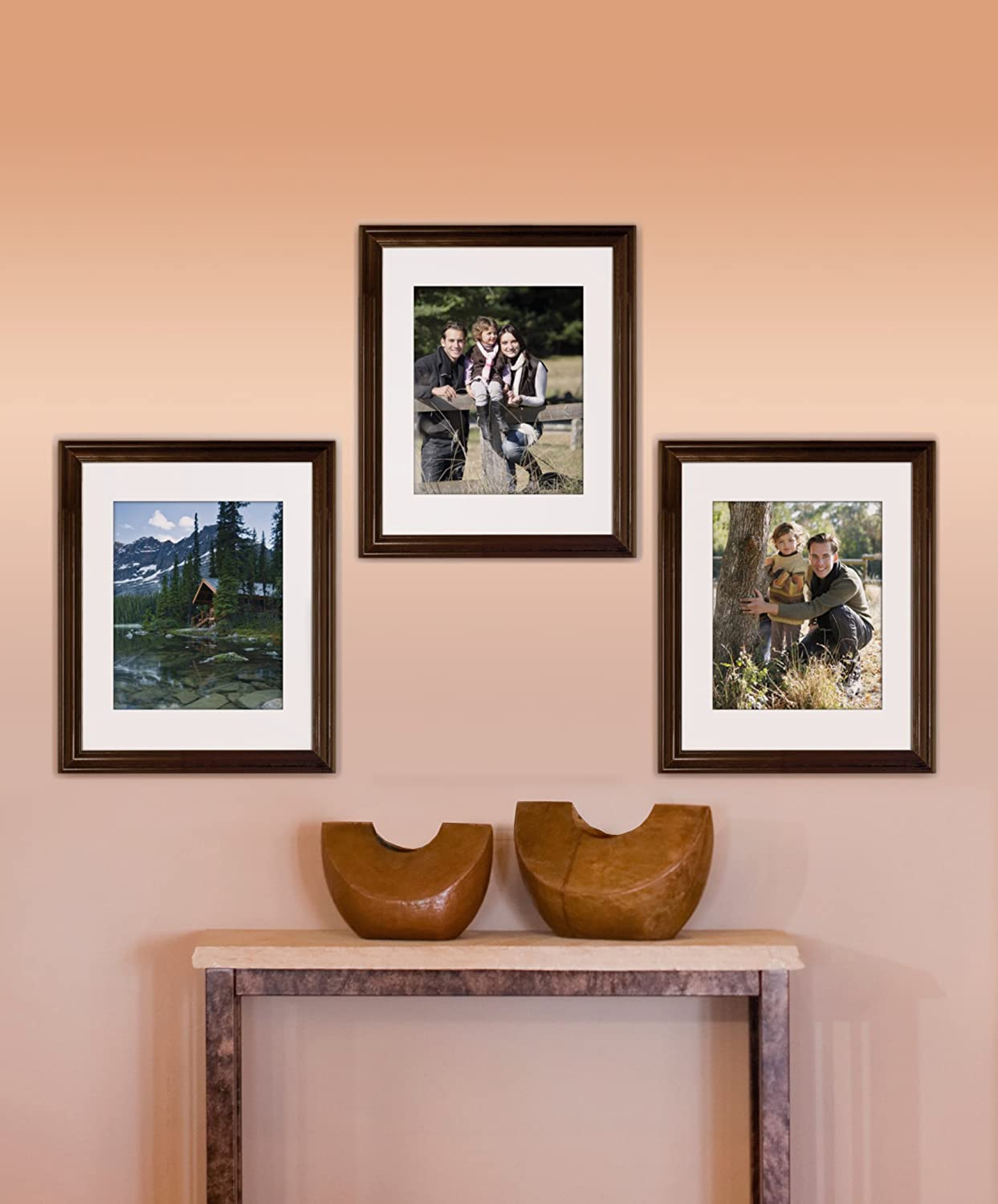 Black Timeless Frames 11x14 Inch Fits 8x10 Inch Photo Supreme Solid Wood Wall Frame
