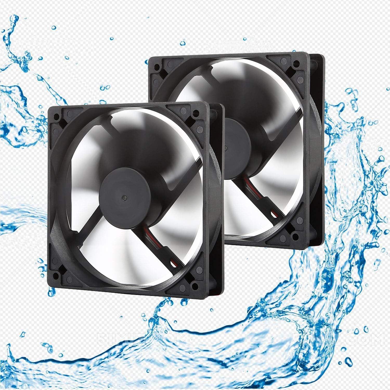 12V Waterproof Fan 120mm High Speed 12 Volt DC 2Wire 3Pin Exhaust Cooling Fan
