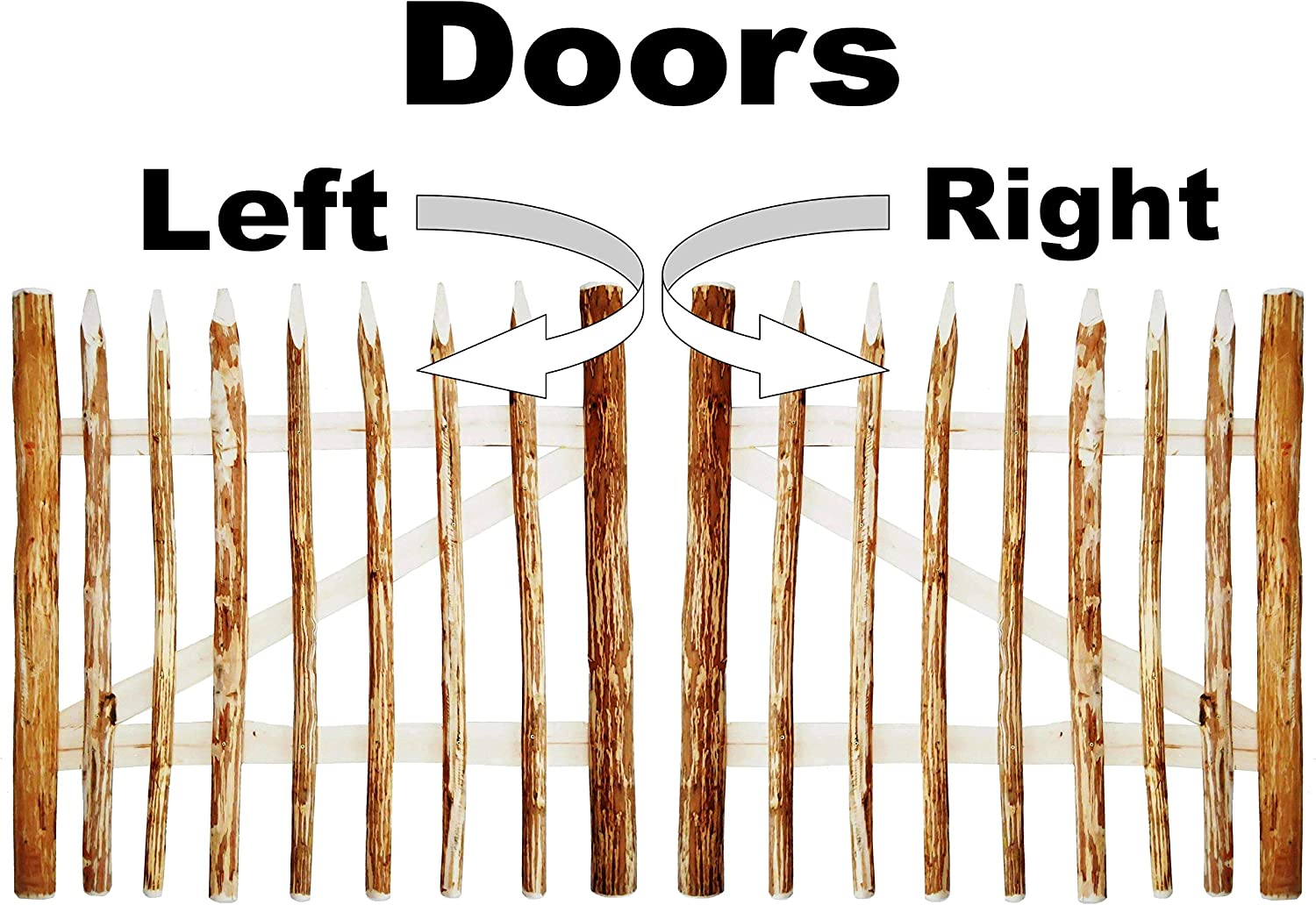 Height 80 cm Door Opening to the Right Distance between Fence Pickets 6-7 cm BOGATECO 2.6 ft Tall Wooden Garden Farm Gate Width: 100cm Includes Hinges /& Accessories