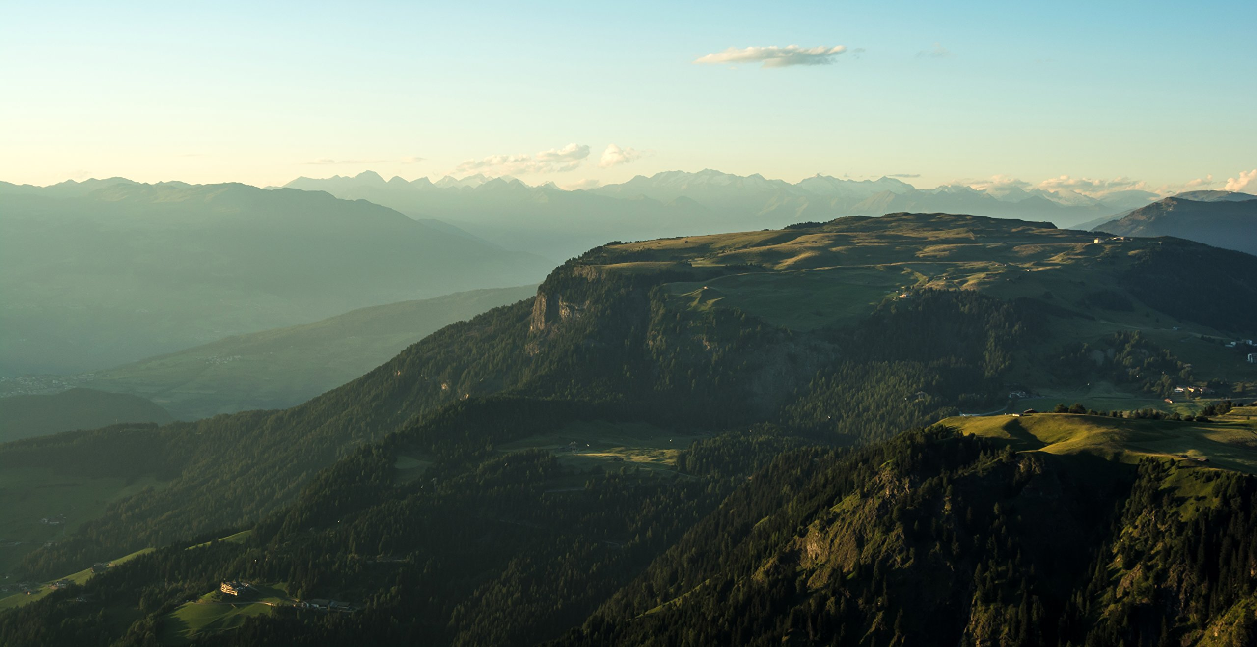 Green Valley And Mountain Range by