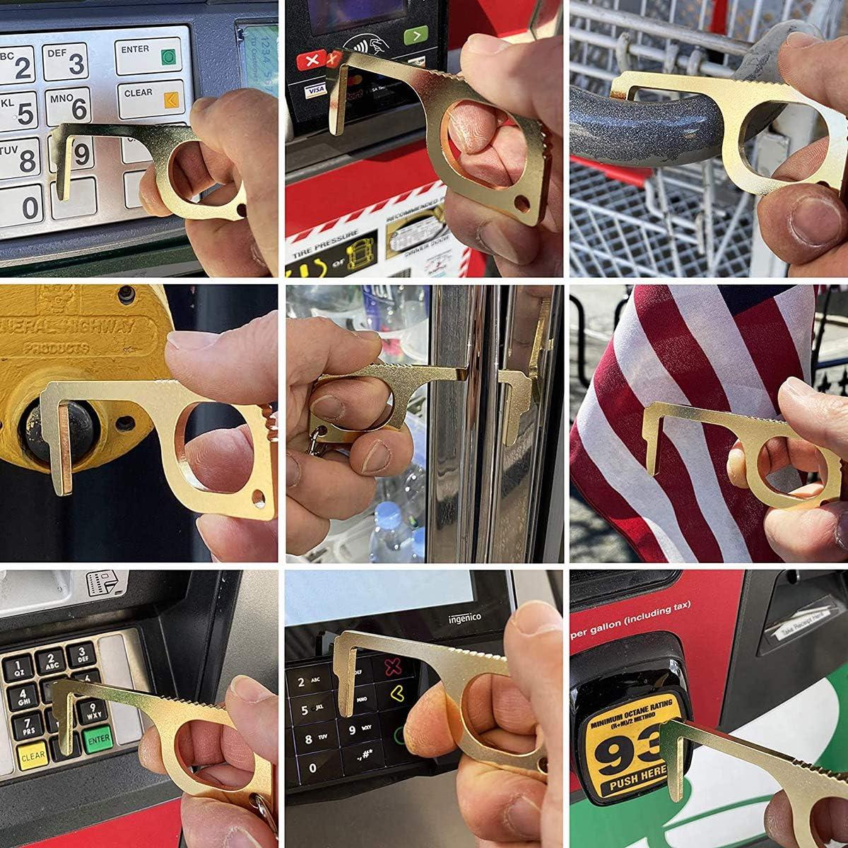 Touchless door opener,no touch door opener, door opener tool ,garage door openers,no touch door opener tool 4pcs B