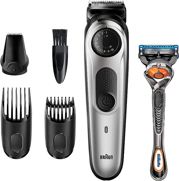 Braun Recortadora de Barba y Cortapelos BT5260, Máquina Cortar Pelo, para Hombre, 39 Ajustes de Longitud, Color Negro y Metal Plateado: Amazon.es: Salud y cuidado personal