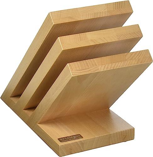 ArteLegno Magnetic Knife Block Solid Beech Wood