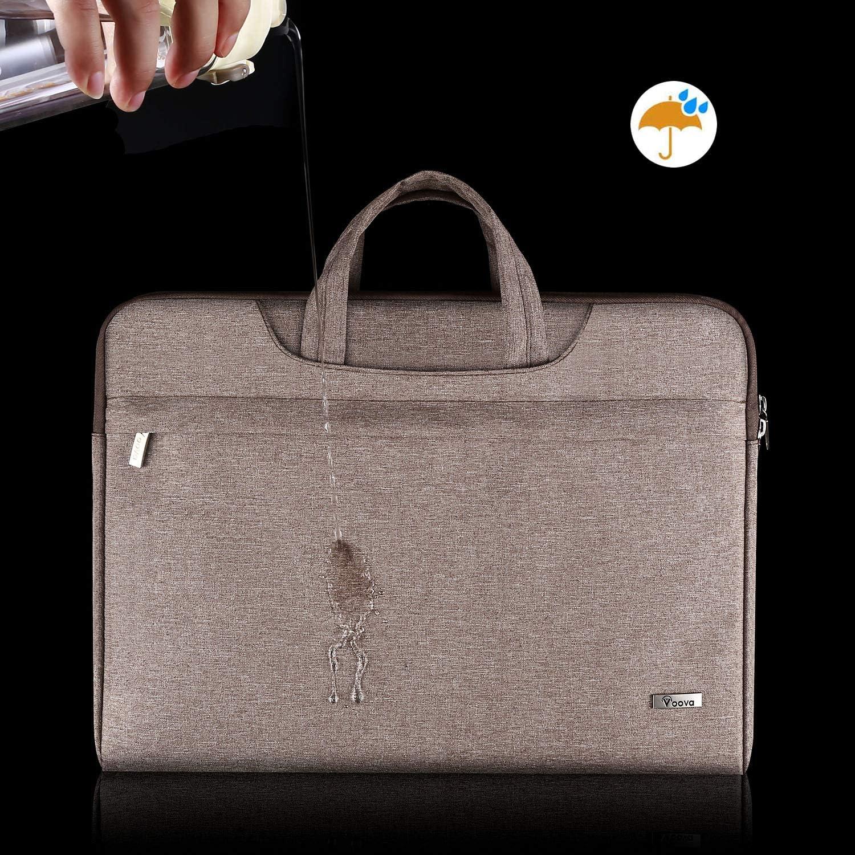 Voova 14-15.6 Inch Laptop Sleeve Case Laptop Shoulder Bag Macbook Pro 16 2019 Slim Computer Carry Case with Strap Compatible with MacBook Pro 15.4 Red Surface Laptop 3 Book 2 15 Chromebook XPS