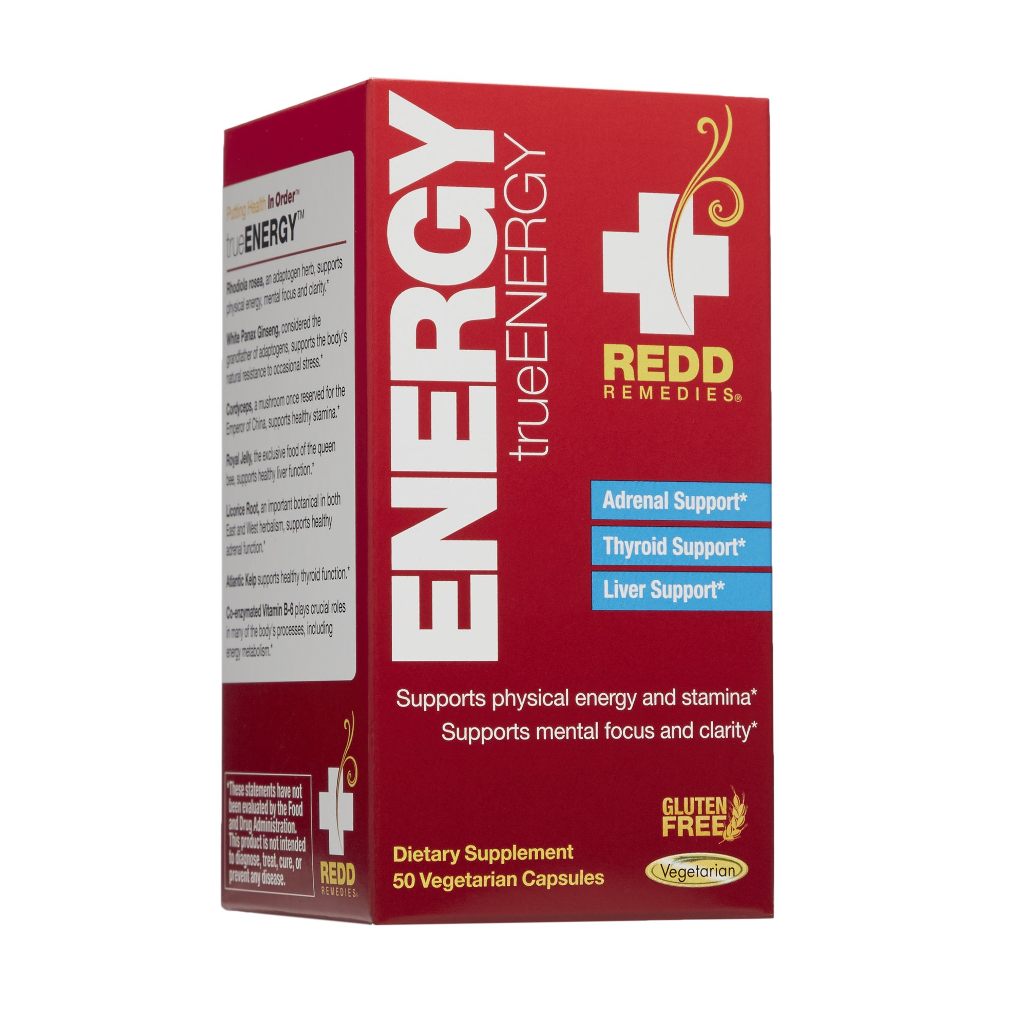 Redd Remedies - trueENERGY, Supports Energy Production and Stamina, 50 Count