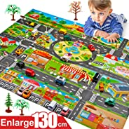 UAMSISTE Kids Carpet Playmat Rug City Life Great for Playing, Kids Play Mat City Road Buildings Parking Map Game Educational