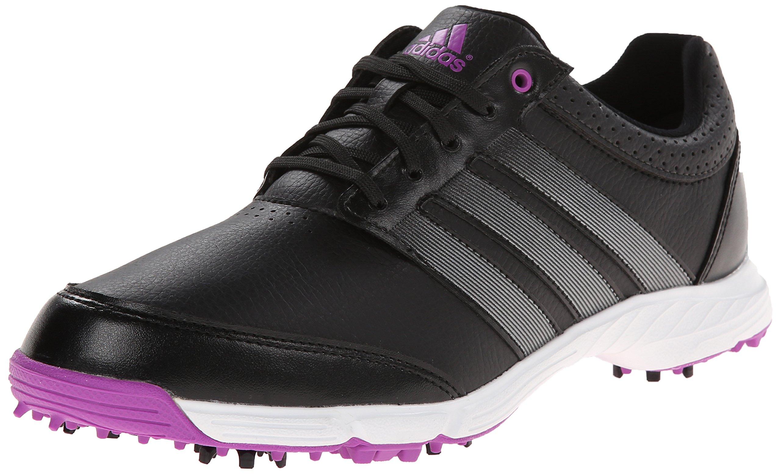 adidas Women's Response Light Golf Shoe, Core Black/Iron Metallic/Flash Pink, 9.5 M US