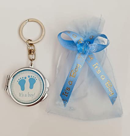 Amazon.com: 12 ITS A BOY KEY CHAIN MIRROR BABY SHOWER GIFT ...