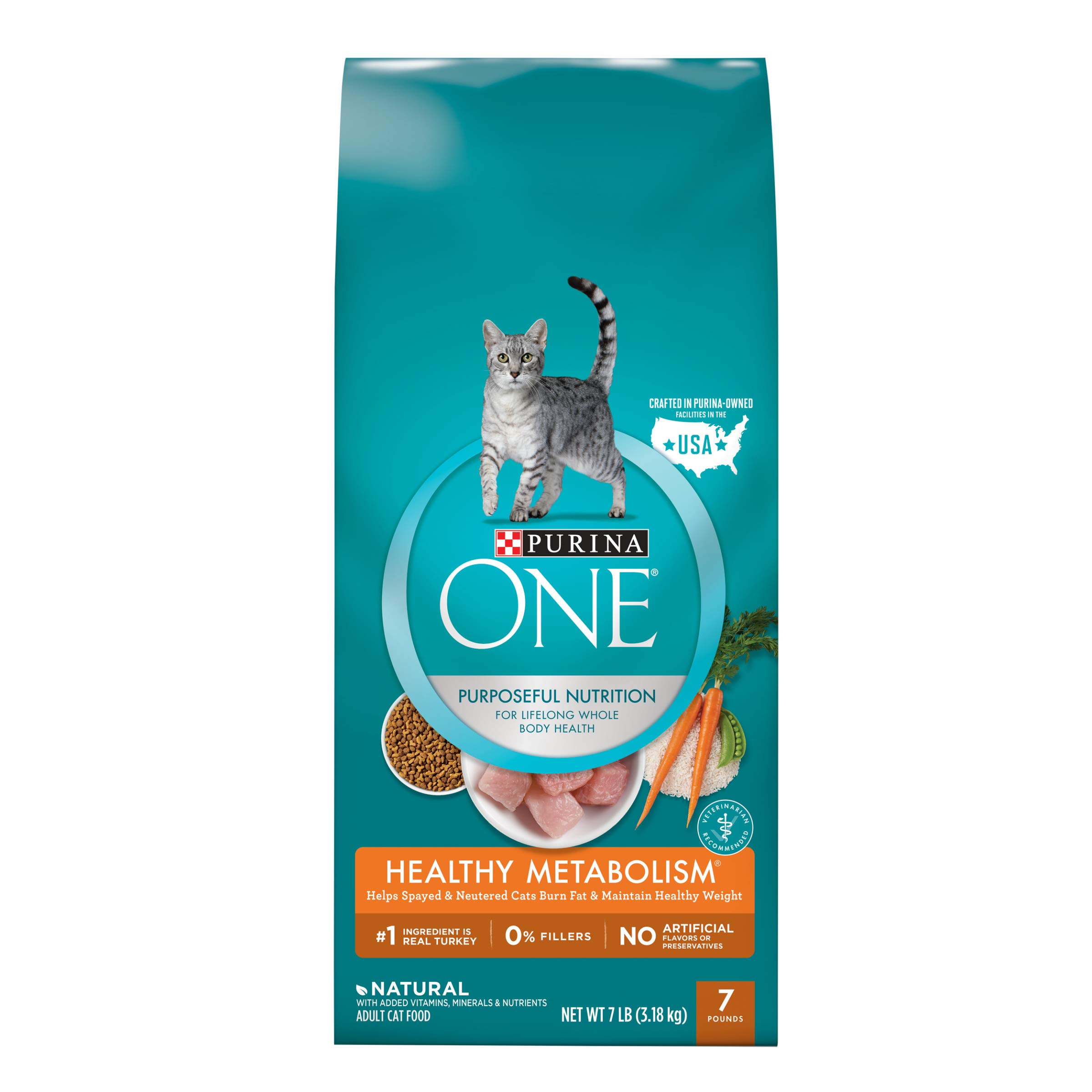 Purina ONE Weight Control, Natural Dry Cat Food, Healthy Metabolism - 7 lb. Bag by Purina ONE