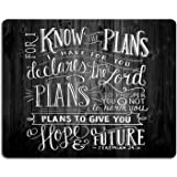 Wknoon Extended Gaming Mouse Pad Personalized Custom Design,Vintage Bible Verse Scripture Quotes Psalms Sayings on Deadwood,Non-slip Thick Rubber Large Mousepad for Laptop