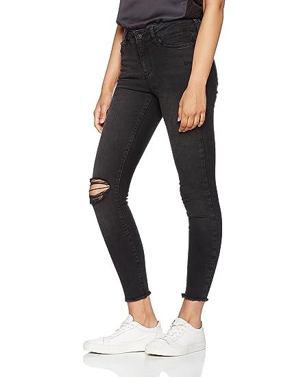 Womens Vmseven Nw SS Ankle Raw Edge BA022 Noos Jeans Vero Moda 0rvIF3xE3