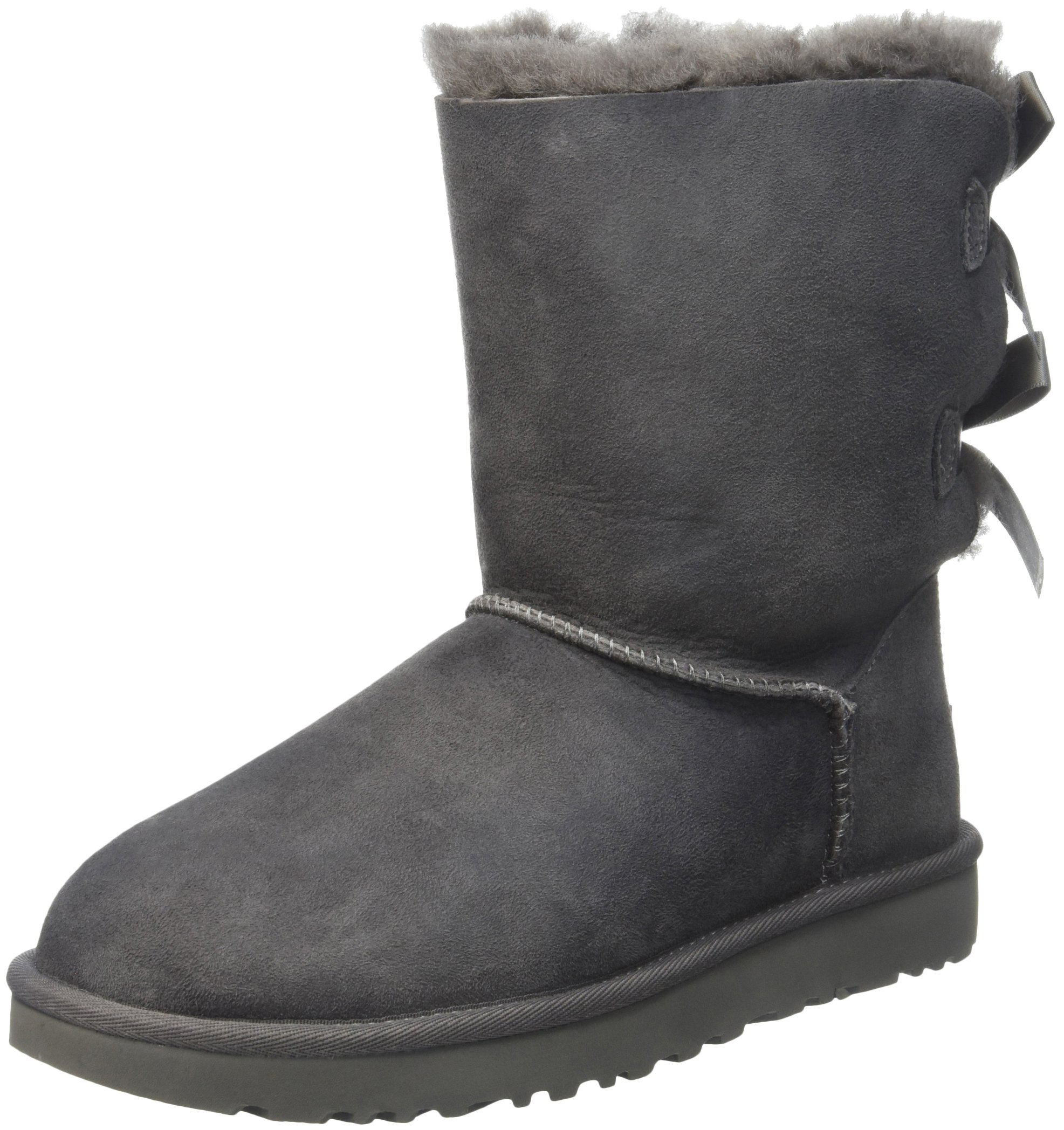 UGG Women's Bailey Bow II Winter Boot, Grey, 8 M US