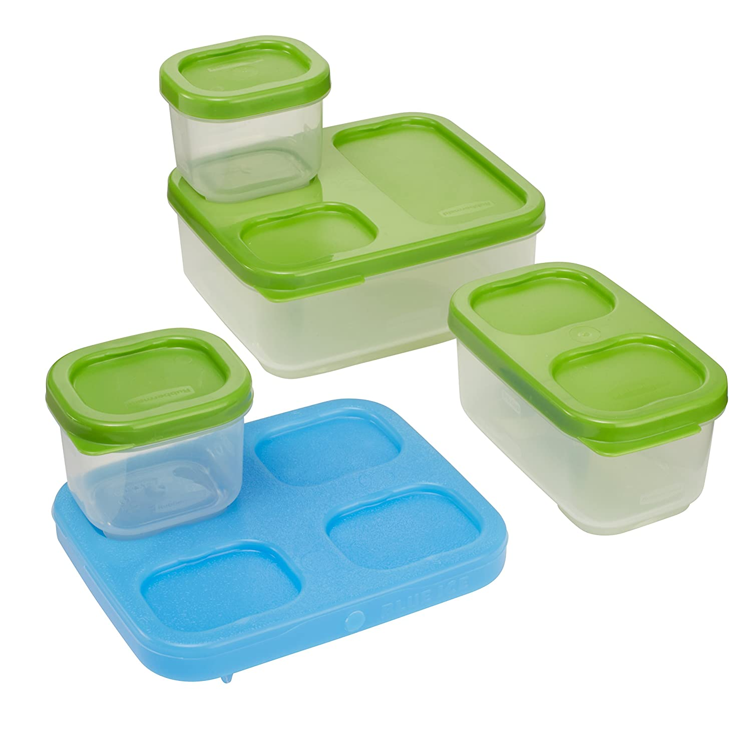Amazon.com: Rubbermaid LunchBlox Sandwich Kit, Green 1806231: Lunch ...