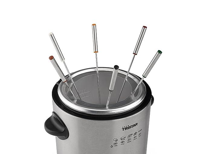 TriStar FO-1102 Fondue/Freidora, Volumen 1 Litro, Termostato Ajustable, 900 W, 1 Liter, Acero Inoxidable: Amazon.es