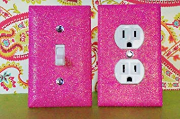Breezy Pink Glitter Switch Plate Outlet Covers Set Of 2 All Styles AvailablePink Room Decoration Games   themoatgroupcriterion us. Pink Room Decoration Games. Home Design Ideas