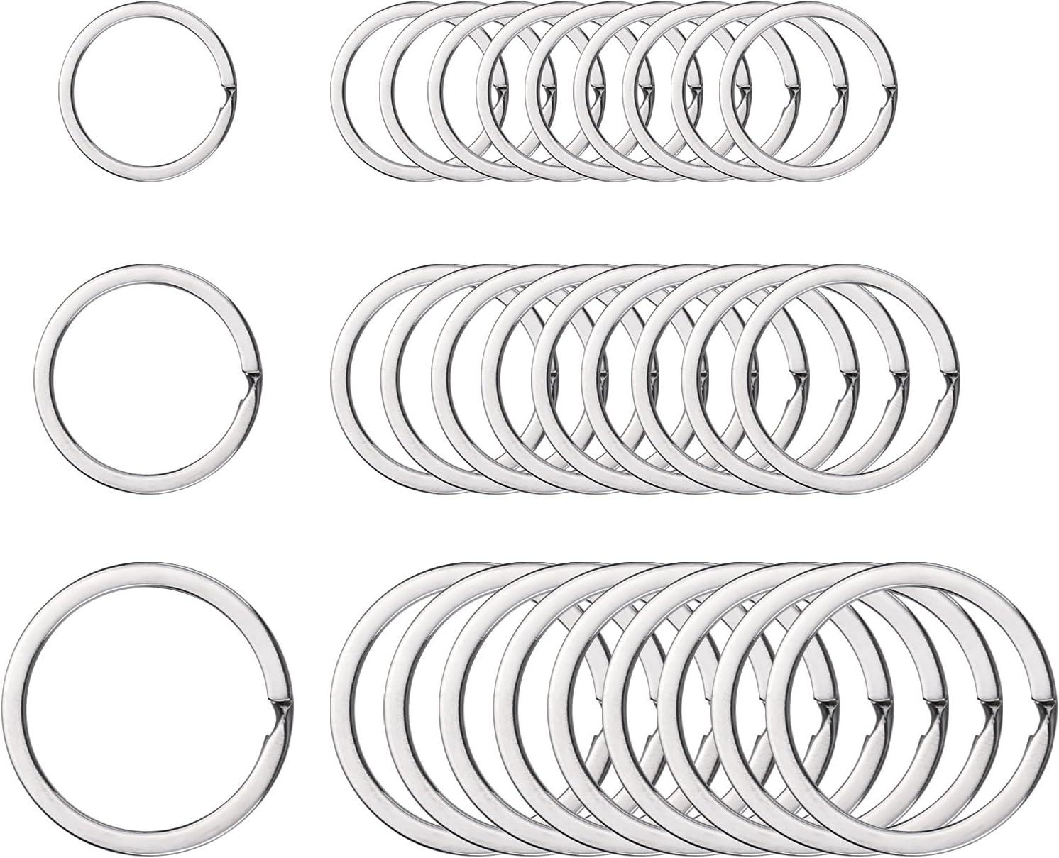 """diameter Sturdy Split Style ~Nickel Metal Finding Lot 50 Key Rings 32mm 1-1//4/"""""""