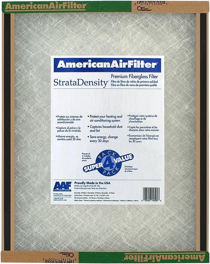 Aaf International 116241 Filter Air Fiberglass 16 x 24 x 1 in Pack Of 12