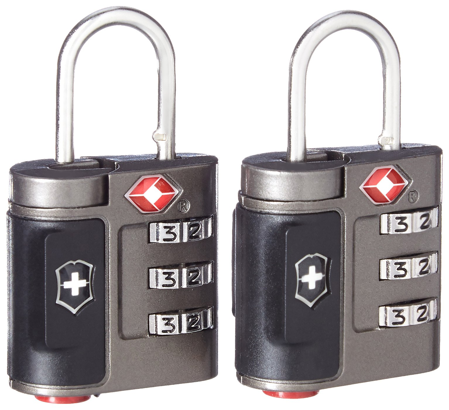 Victorinox Travel Sentry Approved Combination Lock Set, Grey by Victorinox
