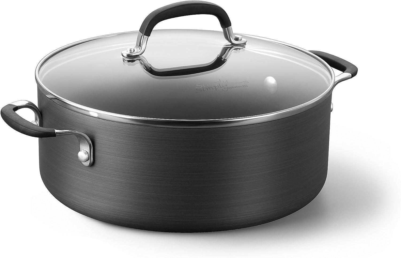 calphalon premier space-saving hard-anodized nonstick sauté pan with cover