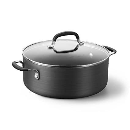 Amazoncom Simply Calphalon Nonstick 5 Qt Chili Stock Pot