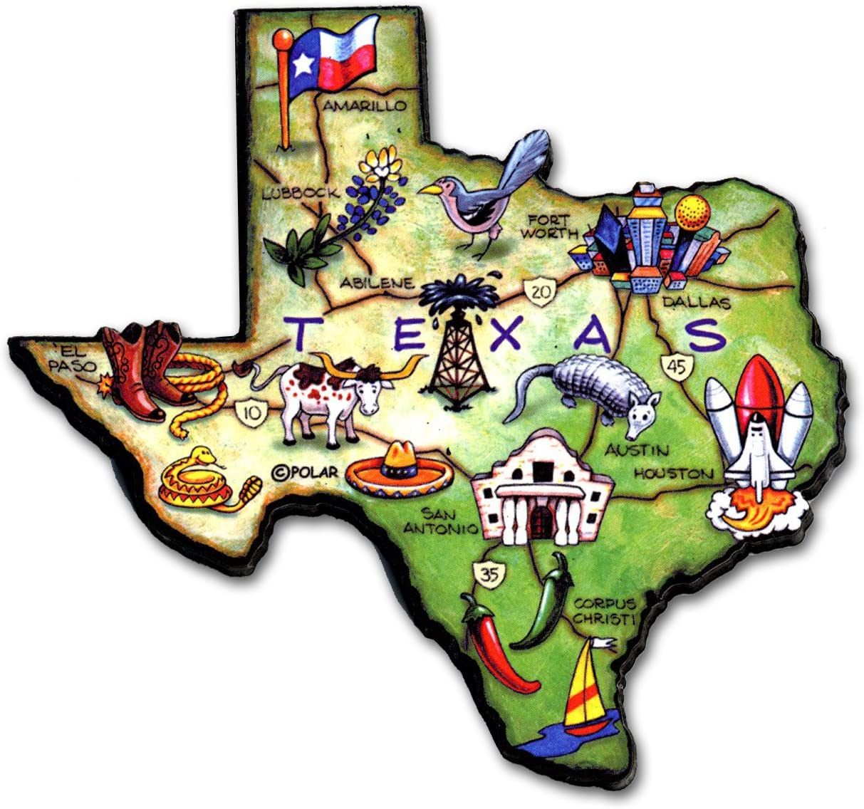 ARTWOOD MAGNET - TEXAS STATE MAP