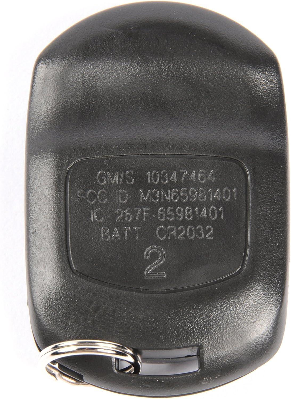 ACDelco 10347464 GM Original Equipment 3 Button Keyless Entry Remote Key Fob