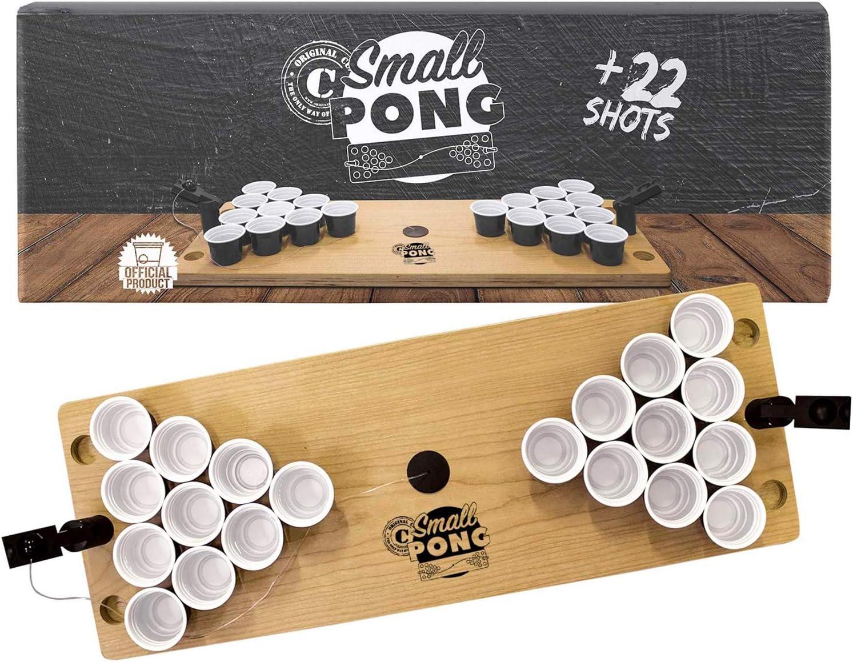 Original Cup Lanceurs Int/égr/és pour Jouer Facilement Mini Table Beer Pong Officielle Premium Haute Qualit/é 22 Shooters en Plastiques