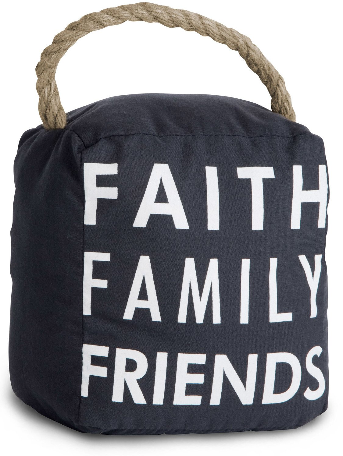 Pavilion Gift Company 72159 Faith Family Friends Door Stopper, 5 by 6-Inch