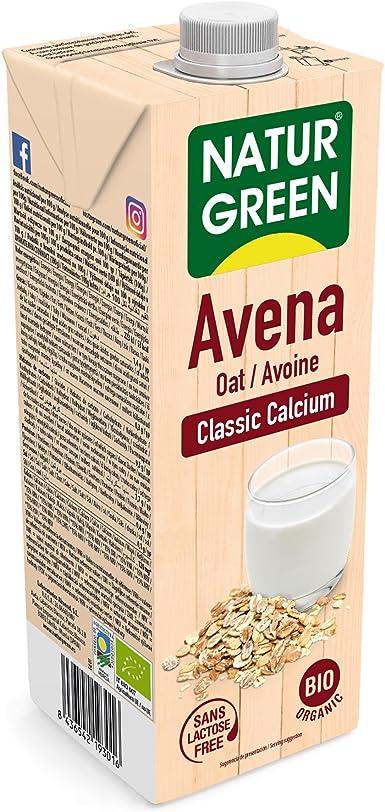NaturGreen Bebida de Avena Classic Calcio, 1 L: Amazon.es: Alimentación y bebidas
