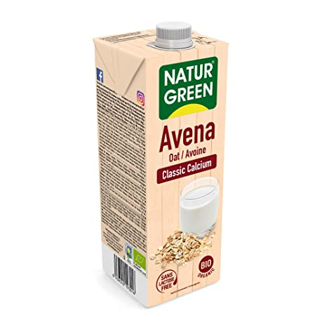 NaturGreen Bebida de Avena Classic Calcio, 1 L