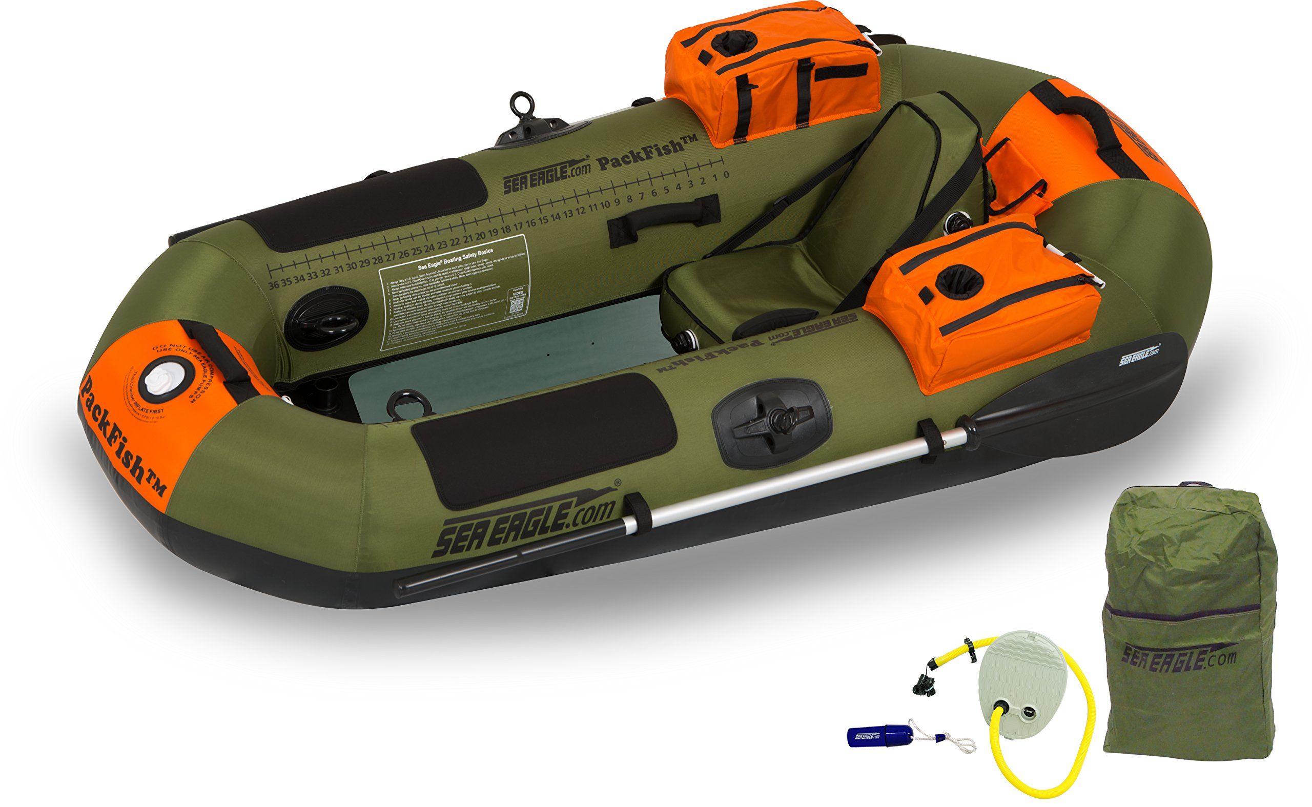 Sea Eagle PF7K PackFish Inflatable Boat Pro Fishing Package by Sea Eagle