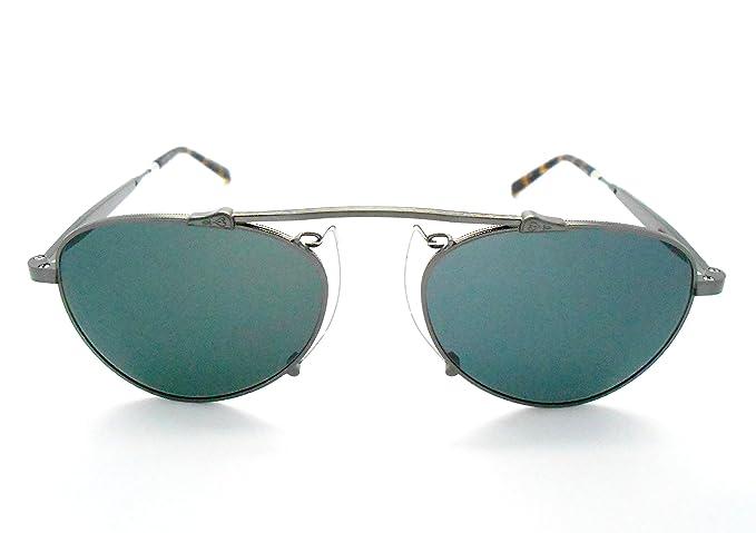 fc36cb8dd70 Amazon.com  Matsuda M3036 Antique silver Small Aviator Sunglasses  Clothing