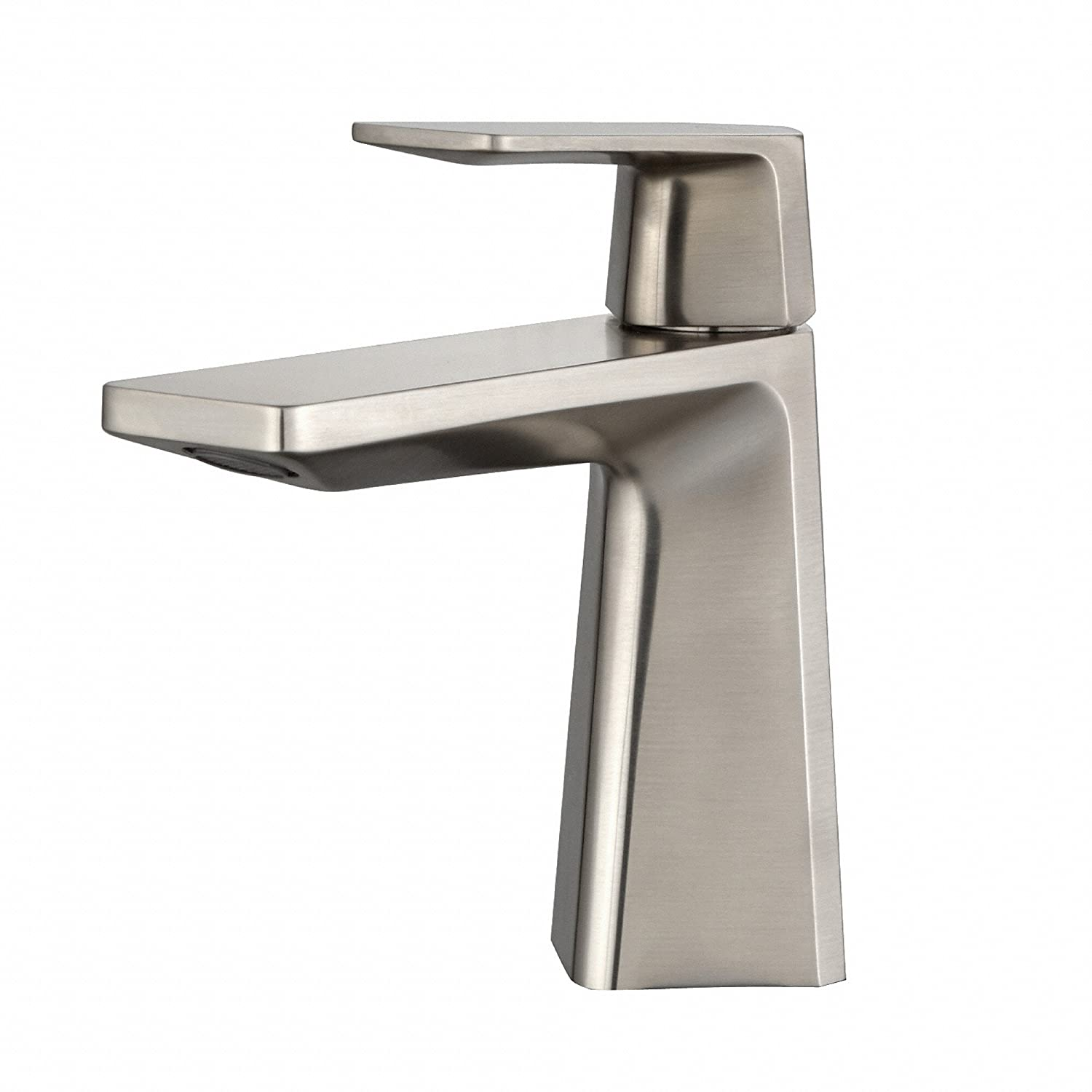 Kraus KEF-15301BN Aplos Single Lever Basin Bathroom Faucet Brushed ...